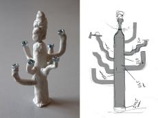 Kaktus-schematisch-und-Modell
